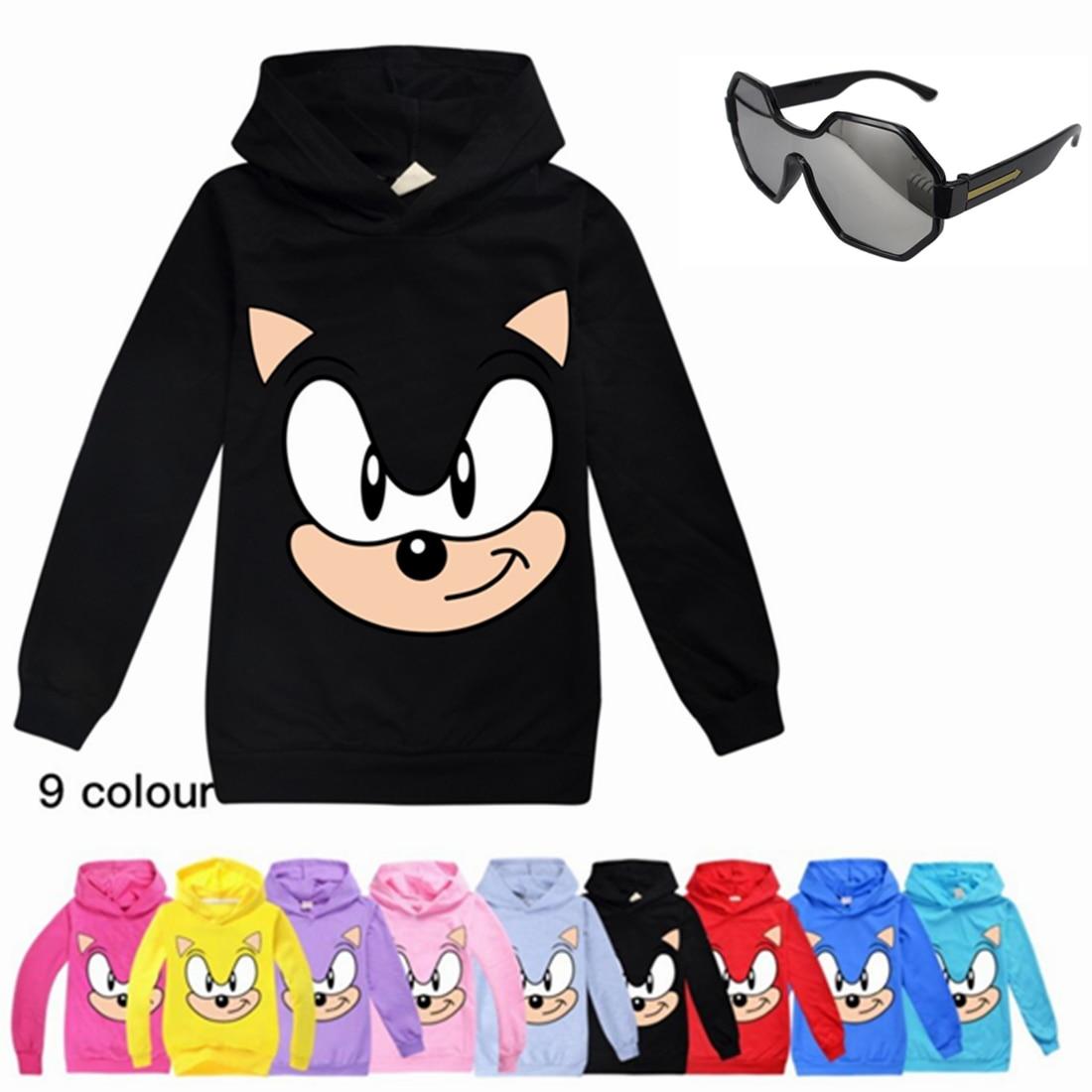 2020 Summer Sports Fashion Sonic The Hedgehog Cotton T Shirt Boys Girls Cartoon Printed Short Tee T-Shirt Kids Children Clothes