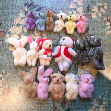 Милые разноцветные, Мини 3,5-7 см прибл. Плюшевый игрушечный кукла; маленькие аксессуары плюшевый Игрушечный Кролик, Кукла Медведь
