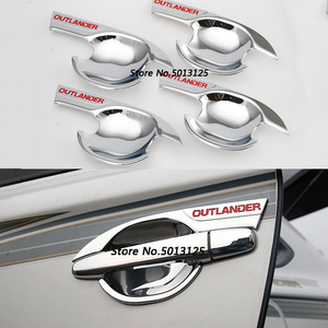 Image 2 - Car Styling ABS Chrome handle Protective Cover Door Handle Outer Bowls Trim For Mitsubishi Outlander 2016 2017 2018 2019 2020