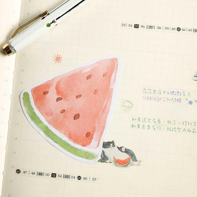 30 страниц фрукты Стикеры для заметок милый блок стикеров для заметок наклейка Post It маркер Закладка офисные принадлежности