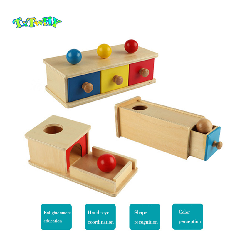 Montessori Games Baby Toys For Educational Wooden Toys Box Wood Product Sensory Toys Infants Box Educational Toys Children Gift