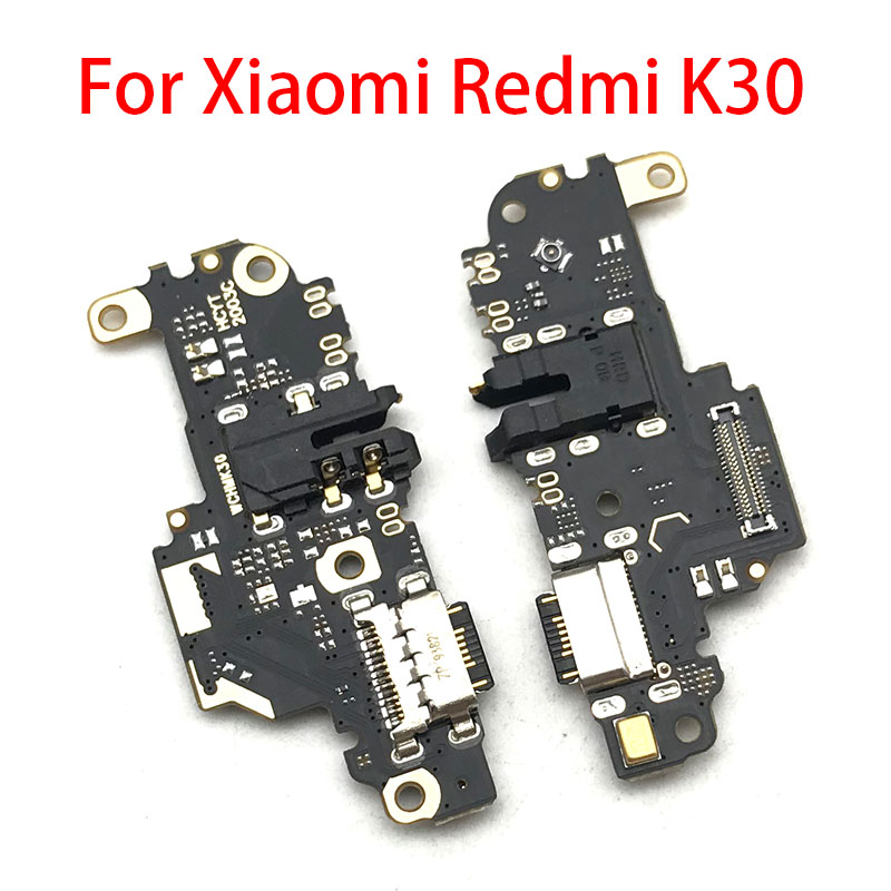 New For Xiaomi Redmi K30 USB Charging Dock Port Charger Connector Board Flex Ribbon With Mic Microphone Autio Jack
