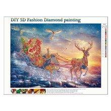 5d Diamond Cross Stitch Draw Full Diamond Christmas Series 7572 Lovely Living Room Kitchen Rhinestone Full-Drill Photos цена