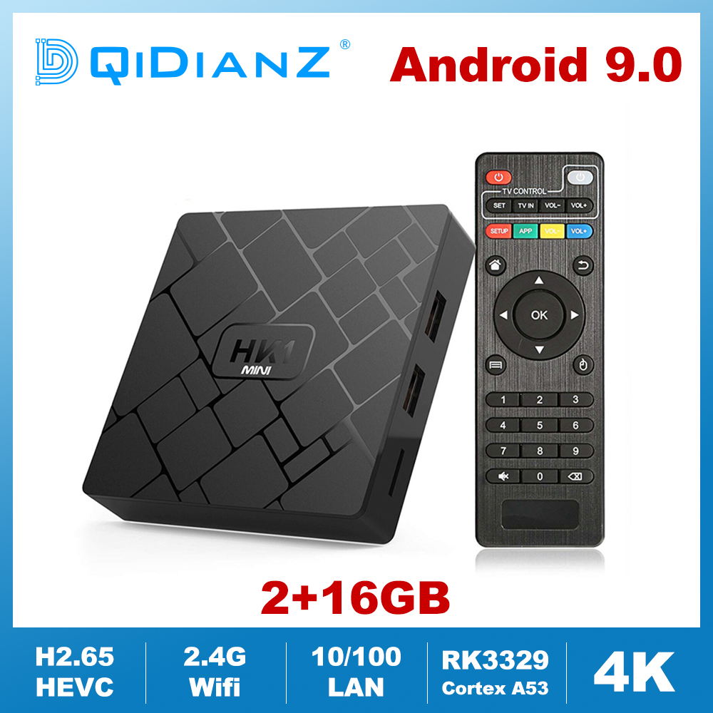 HK1mini Android 9 0 Smart TV BOX RK3229 Quad Core Wifi 2 4G 4K HD HK1 Mini Set Top Box Wireless Keyboard Media Player 2GB 16GB