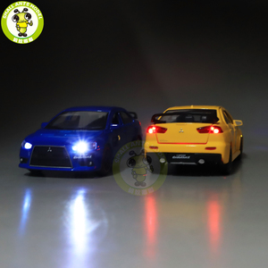 Image 2 - Модель автомобиля jackiфотовспышки Mitsubishi Lancer EVO X 10 BBS RHD с черной крышей, модель автомобиля, игрушки для детей, 1/32