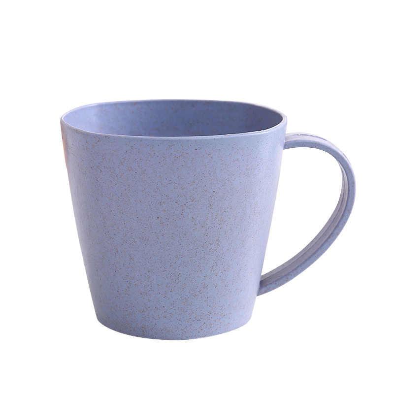1 Pc Nordic Stijl Plastic Thee Kopjes Milieuvriendelijke Tarwe Stro Cup Koffie Thee Melk Drink Cup Tandenborstel Cup Voor Huis badkamer