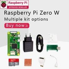 Raspberry Pi Zero W DEV Kit, 1 ГГц, одноядерный процессор, 512 МБ ОЗУ, 2,4 ГГц, Wi Fi, Bluetooth 4,1 комплект включает чехол, кабель MINI HDMI uUSB