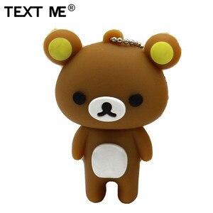 Image 2 - TEXT ME cute carton bear model usb flash drive  4GB 8GB 16GB 32GB 64GB pendrive gift usb 2.0