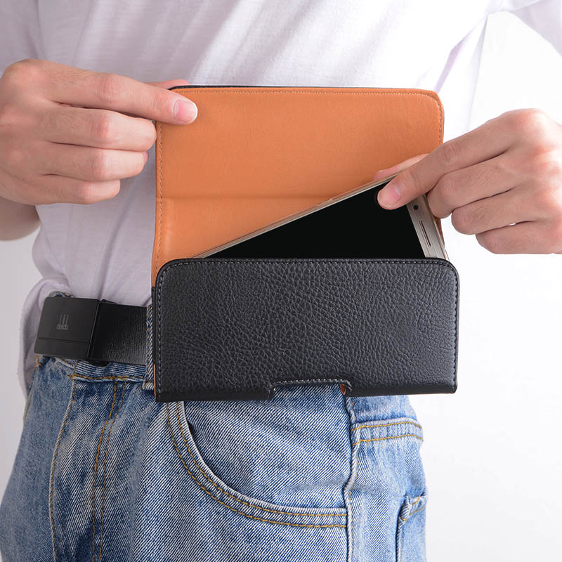 Universal Casual Leather Phone Pouch with Holster Bag Belt Good Protection For Phones 5