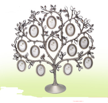 Creative white diamond metal tree Photo frame set Fashion personality home picture frames decoration