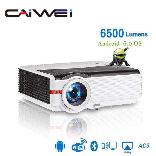 Caiwei A9/A9AB 스마트 LED 지원 1080p 프로젝터 홈 시네마 풀 HD 비디오 모바일 비머 안드로이드 와이파이 블루투스 hdmi VGA AV USB