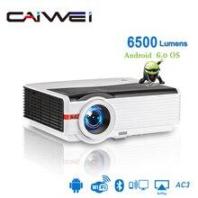 Caiwei A9/A9AB inteligentna dioda LED wsparcie 1080p projektor kino domowe Full HD wideo mobilny Beamer Android WiFi Bluetooth hdmi VGA AV USB