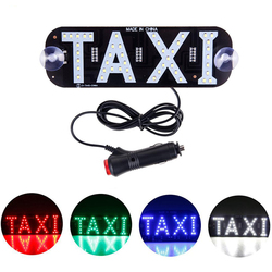 LED Car Decoration Lights Taxi Display Signal Indicator Lights 12V LED Cab Top Sign Auto Windshield Lamp For Car Accessories