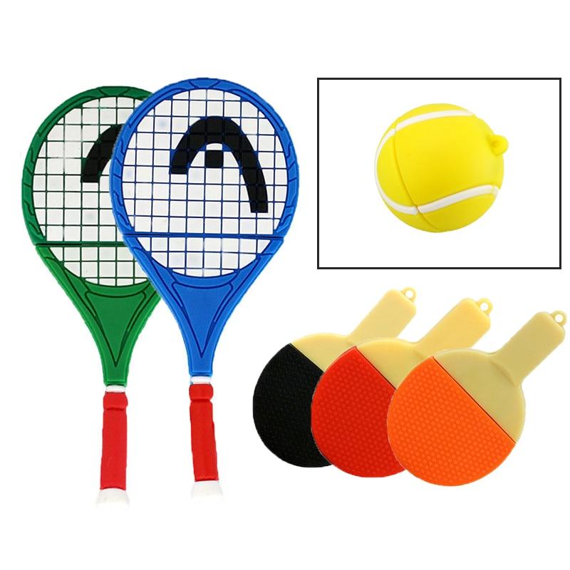 U Disk Pen Drive Cartoon Racket 4GB 8GB 16GB Tennis Racket Usb Flash Drive Flash Memory Stick Storage Pendrive Mini Frash Card
