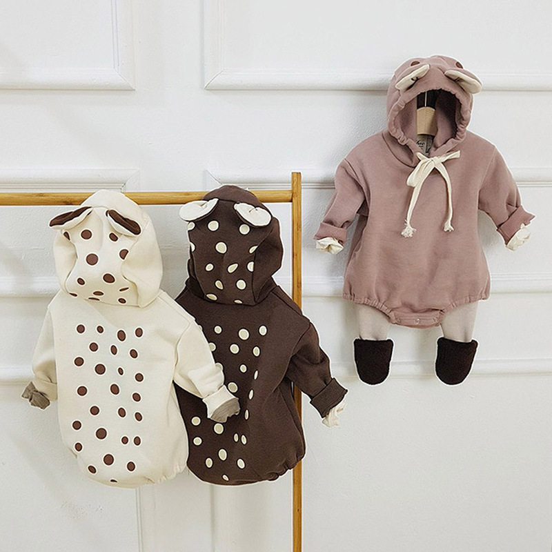 MILANCEL  Baby Clothing Long Sleeve Baby Bodysuit Deer Style Baby Boys Jumpsuits  Toddler Boy Clothes