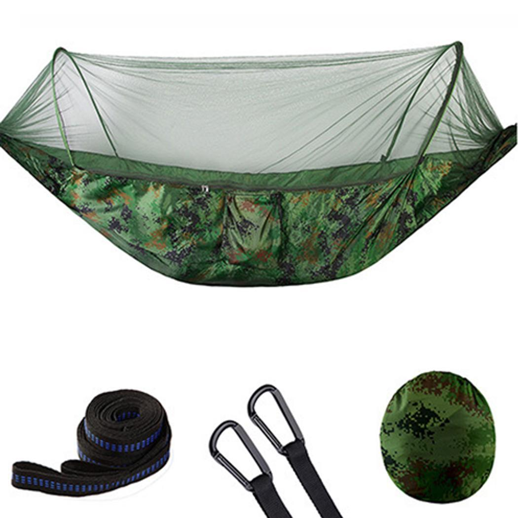 Double Outdoor Mosquito Net Hammock Camping Hanging 200kg Sleeping Swing Bed thumbnail