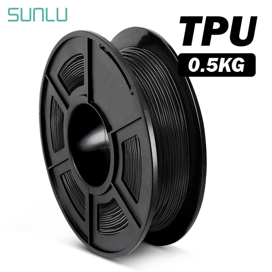 Filament 3D Flexible de plastique de Filament d'impression de SUNLU 1.75mm pour l'imprimante 3D précision de Dimension +/-0.02mm