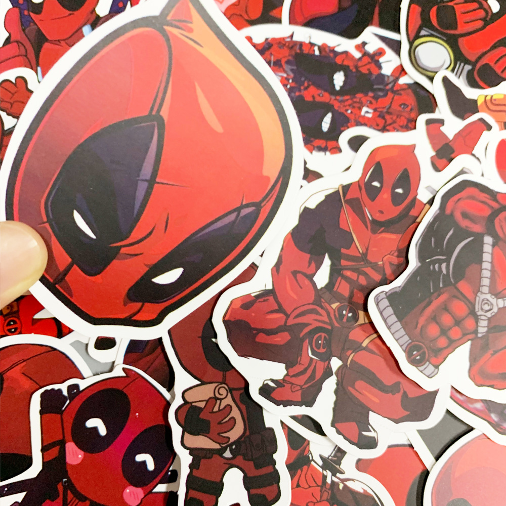 35PCS Deadpool Stickers Pack Movies Character Sticker for DIY Skateboard Motorcycle Luggage Laptop Cartoon Sticker Sets