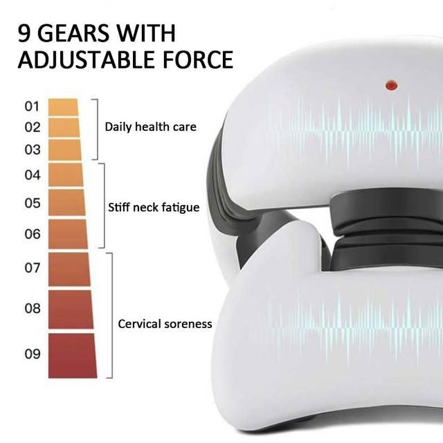 Smart 4D impulsion magn tique chauff e lectrique cou paule masseur infrarouge lointain chauffage Fatigue soulagement