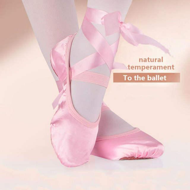 Kids Bandage Children Ballet Shoes Pink Purple Apricot &Red Canvas Ballet Dance Shoes