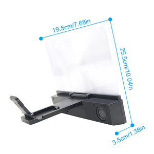 Image 3 - Besegad 3 in 1 12 인치 3D HD 휴대 전화 화면 증폭기 돋보기 프로젝터 블루투스 스피커 모바일 전원 기능