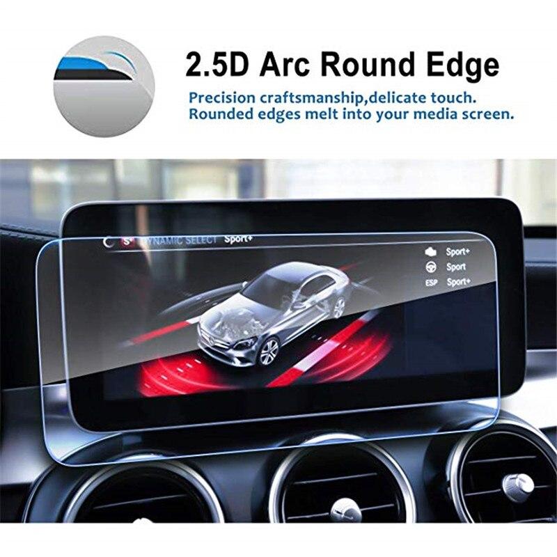 Защитная пленка для экрана автомобильной навигации для Benz 2019 C-Class W205 10,25 дюймов, закаленное стекло, аудио, развлекательная защитная пленка