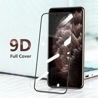 Protección de vidrio para iPhone 12 11 Pro MAX XR 12 Mini Protector de pantalla de vidrio para iPhone X XS X máx. 6S 6 7 8 Plus SE protección de pantalla