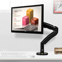 NB F100A Monitor Desk Mount Full Motion 360 Rotate Swivel Monitor Arm with Gas Spring for 22'' 35''Monitors from 3 to12kg