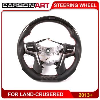 For LED-crusered LED Carbon Fiber Steering Wheel race display+LCD screen guage meter LED racing steering wheel 2012 2015 2016