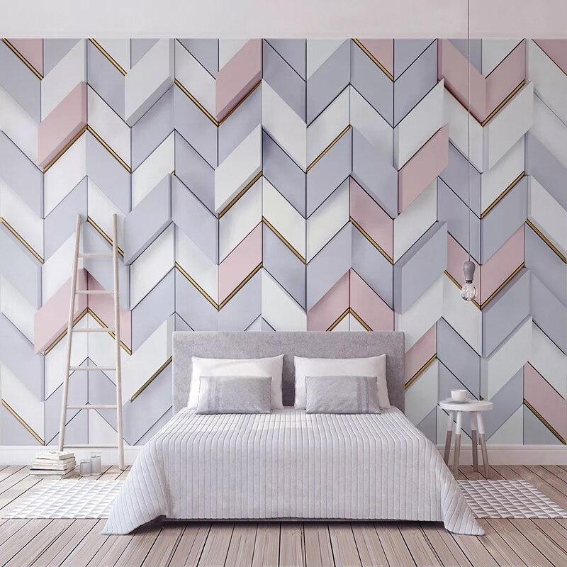 Custom Photo Wallpaper 3D Stereoscopic Polygonal Mosaic Modern Interior Bedroom Living Room TV Background Decoration Wall Murals