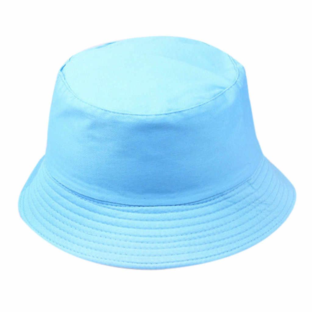 Unisex Summer Neon Bucket Hat Women Outdoor Sunscreen Cotton Fishing Hunting Cap Men Basin Chapeau Sun Prevent Hats 2019 Fashion