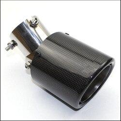 Car styling błyszczący + stal nierdzewna AK A.K rura wydechowa regulacja 45 stopni tłumik do uniwersalnych końcówek spaliny węglowe
