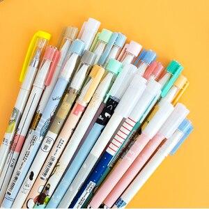 Image 3 - 50 шт./пакет Kawaii гелевые ручки с 10 шт бесплатными стержнями нейтральная ручка чернила 0,38 мм 0,5 мм канцелярские принадлежности для офиса школы школьные принадлежности