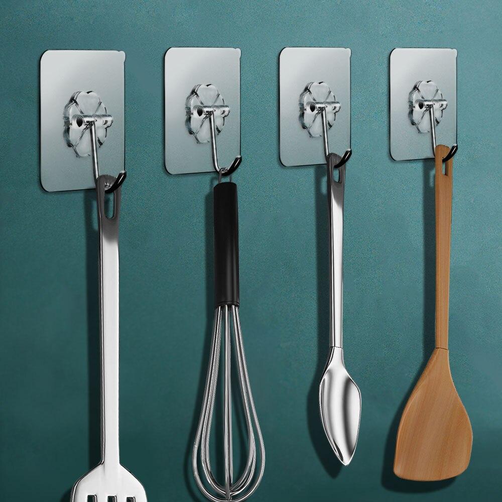 Прозрачные крепкие самоклеящиеся настенные вешалки для дверей, крючки на присоске, стойка для тяжелых нагрузок с присоской для дома и кухни...