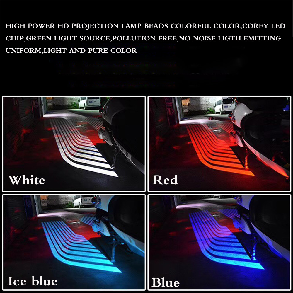 universal Car motorcycle ghost angel wings LED laser Light Car LED Door Warning Light Welcome Light Shadow Light Projector