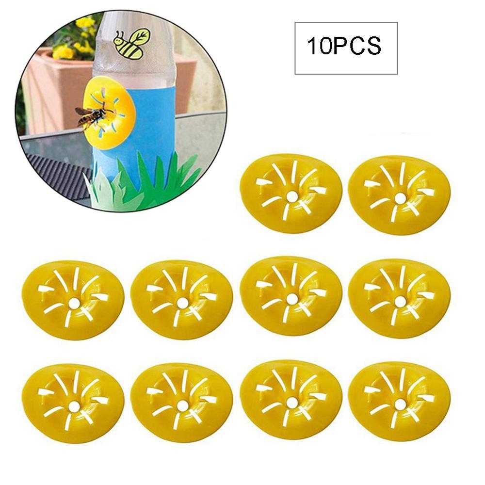 10 adet/takım Mini ev uçan arı Catcher böcek huni Wasp tuzak bahçe haşere kontrolü açık toksik olmayan çiçek şeklinde yeniden kullanılabilir