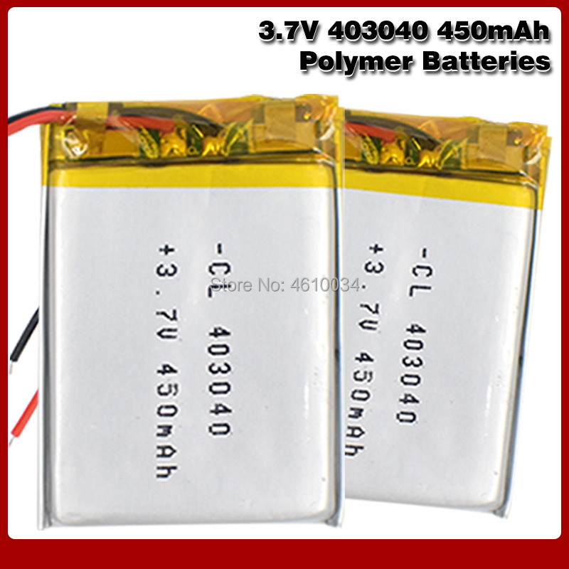 <font><b>3.7V</b></font> lithium polymer battery 043040 <font><b>403040</b></font> 450mAh MP3 MP4 GPS Bluetooth lithium battery small stereo bluetooth GPS image