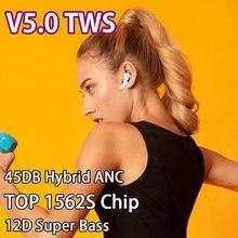 V5.0 tws anc airoha 1562s chip fones de ouvido sem fio bluetooth 12d super baixo sensor luz pk i500 i99999 tws