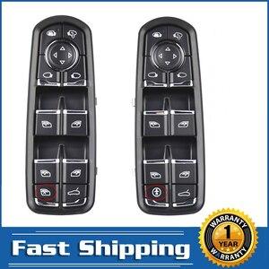 Image 1 - Para Porsche Panamera Cayenne Macan Control de ventana maestra eléctrica interruptor de botón de consola 2010 2018 alta calidad accesorios de coche