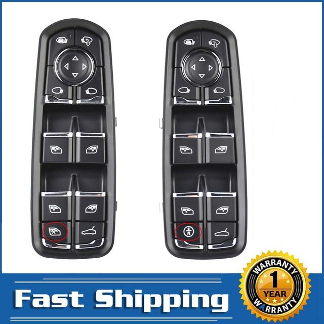 Para Porsche Panamera Cayenne Macan Control de ventana maestra eléctrica interruptor de botón de consola 2010 2018 alta calidad accesorios de coche