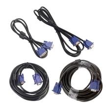 1pcs חדש OOTDTY אביזרי VGA כבלי 1.5/3/5/10m VGA 15 פין זכר זכר כבל מאריך עבור מחשב נייד מקרן HDTV