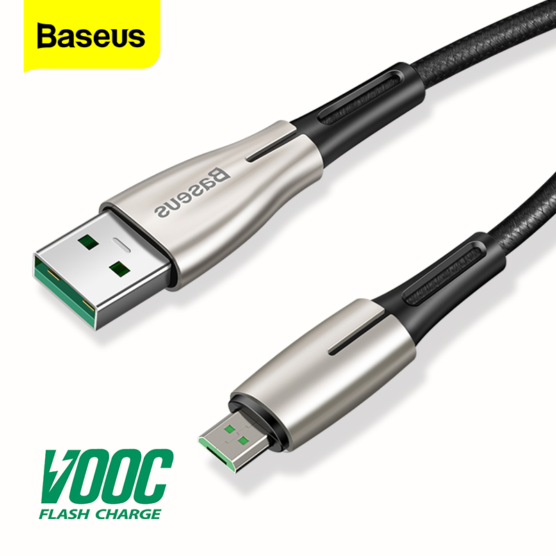 Baseus Micro USB Cable VOOC 4A Flash Charge For OPPO MicroUSB Cable 2A Charger For Samsung Huawei Android Mobile Phone Cable 2m|Mobile Phone Cables| |  - AliExpress