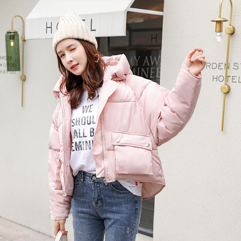 Cotton-padded Clothes Women's Short 2019 Autumn And Winter Thick Loose-Fit Down Jacket Cotton-padded Clothes Coat Students Versi