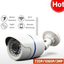 цена на Bullet Waterproof HD 1080P IP Camera Outdoor WiFi Home Security 720P 3MP Surveillance Wi Fi CCTV Cloud IP/Network Wireless