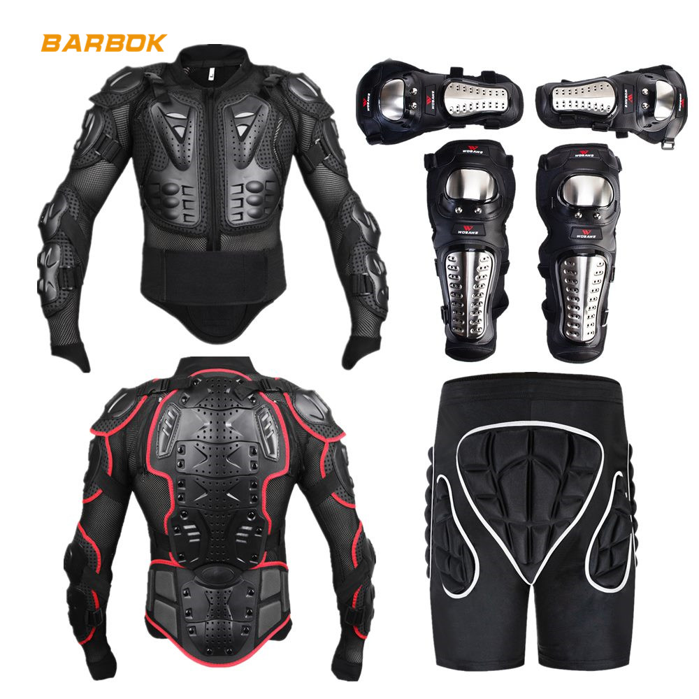 WOSAWE Sports Motocross Armor Men Mesh Sleeve Moto Windbreaker Back Support Protector Protective Gear Motorcycle Body Protection