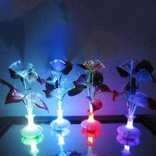 Звезды на потолок Светодиодный волоконно-оптические лампы цветок Звезда потолок Калла Лили ваза ночник украшения красочные