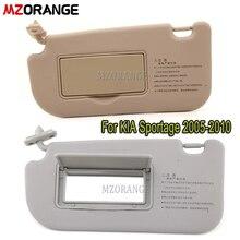 Bege/cinza cor carro lhd interior sunvisor protetor solar sombra com espelho viseira de sol para kia sportage 2005-2010 acessórios do carro