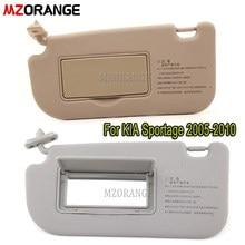 Pare-soleil intérieur de voiture pour KIA Sportage 2005 – 2010, couleur Beige/gris LHD, pare-soleil avec miroir, accessoires