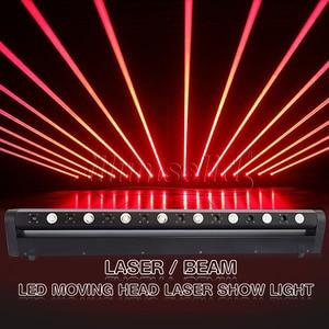 Image 2 - Led ruchoma głowica pokaz laserowy projektor świetlny 8 głowa czerwona wiązka tłuszczu 3w Bar Dj na wieczór muzyczny, teatr, Pub