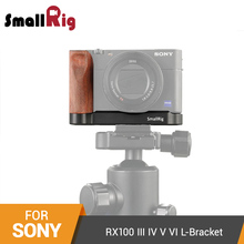 SmallRig L Plate for Sony RX100 III IV V VI L Bracket Mounting Plate Quick Release Tripod Baseplate With Wooden Handle - 2248